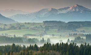 Blick in die Ammergauer Alpen
